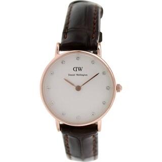 Daniel Wellington Women's Classy York 0902DW Brown Leather Quartz Watch