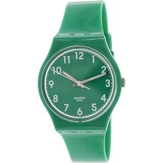 Swatch Women's Originals GG217 Green Silicone Swiss Quartz Green Dial Watch