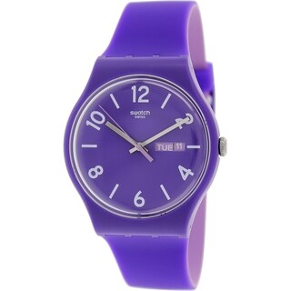 Swatch Women's SUOV703 'Originals' Purple Silicone Swiss Quartz Watch