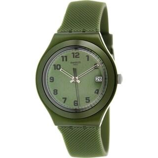 Swatch Men's Irony YGM4000 Green Silicone Swiss Quartz Watch