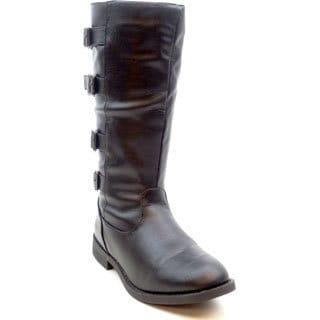 Blue Women's 'Kimmy Z' Buckle Strap Combat Boots