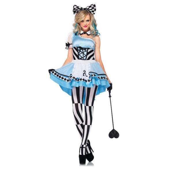 Leg Avenue Psychedelic Alice Apron Dress