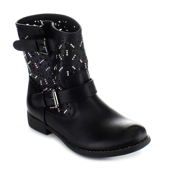 Anna Clayton Studded Buckle Ankle Bootie