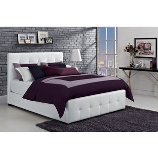 DHP Florence White Upholstered Full Bed