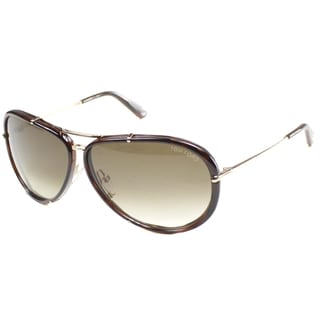 Tom Ford Unisex 'TF 109 Cyrille 28K' Aviator Sunglasses