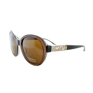 Tommy Bahama Women's TB 7026 200 Brown Plastic Polarized Sunglasses