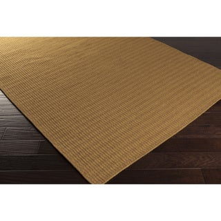 Hand-Woven Bernie Solid Wool Area Rug (96 inches long x 60 inches wide)