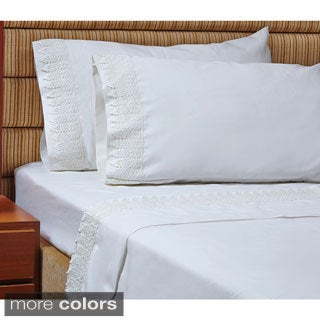 1000 Thread Count Egyptian Cotton Sheet Set with Luxury Soft Lace