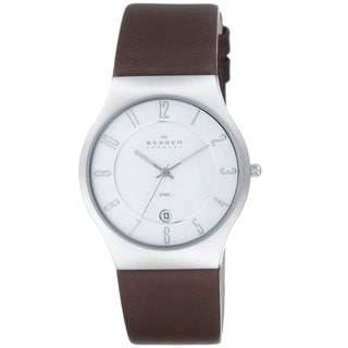 Skagen 233XXLSL Grenen Men's Leather Watch