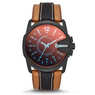 Diesel Men's Stainless Steel DZ1600 Master Chief Leather Watch