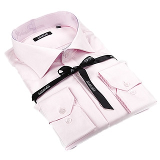 Georges Rech Men's Pink Button-down Dress Shirt