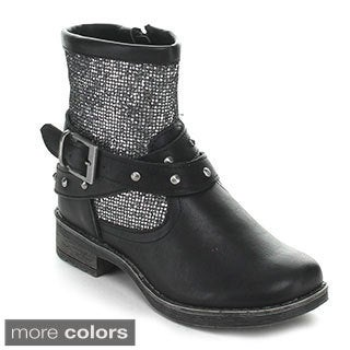 Jelly Beans Girls 'Turbo' Ankle Strap Mid-calf Boots