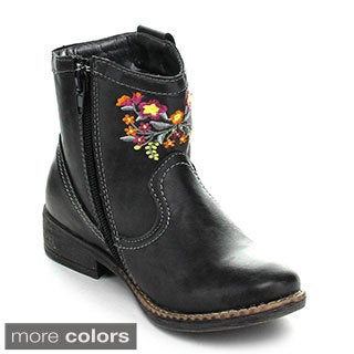Jelly Beans Girls 'Clever' Embroidered Western Style Mid-calf Boots
