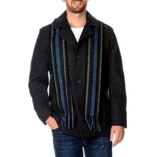 Perry Ellis Portfolio Men's Wool Charcoal Coat