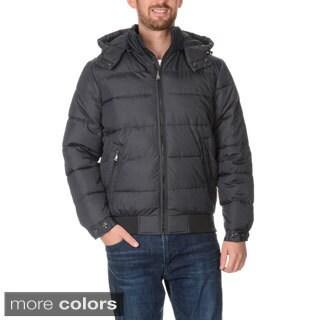 Perry Ellis Portfolio Men's Print Tech Jacket with Detachable Hood