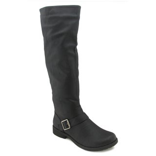 Olivia Miller Women's 'Harlow' Black Moto-style Riding Boots