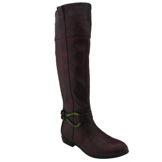 Olivia Miller Women's 'Abby' Brown Knee-high Riding Boots