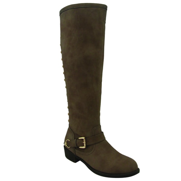Olivia Miller Women's 'Evelyn' Buff Knee-high Riding Boots