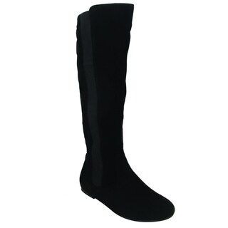 Olivia Miller Women's 'Ada' Black Knee-high Boots