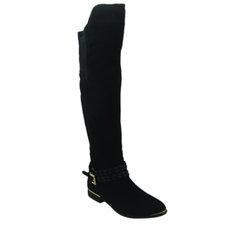 Olivia Miller Women's 'Tessa' Black Over-the-Knee Boots