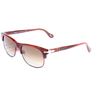 Persol Unisex PO3034S-95751-53 Brown Semi-rimless Sunglasses
