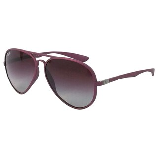 Ray Ban Women's 'RB 4180 6087/4Q' Violet Aviator Sunglasses