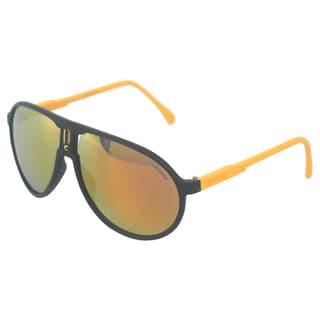Carrera Unisex Matte Black and Yellow Fashion Sunglasses