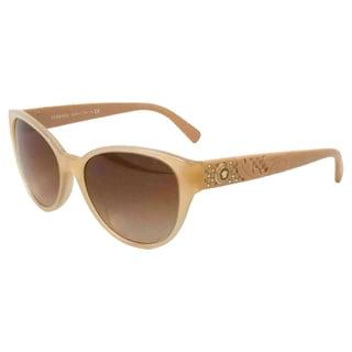 Versace Women's 'VE 4272 5039/13' Opal Beige Oval Sunglasses