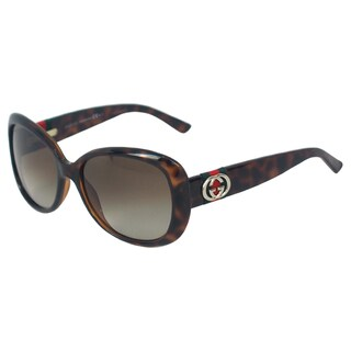 Gucci Women's 'GG 3644/S DWJHA' Havana Cat-eye Sunglasses