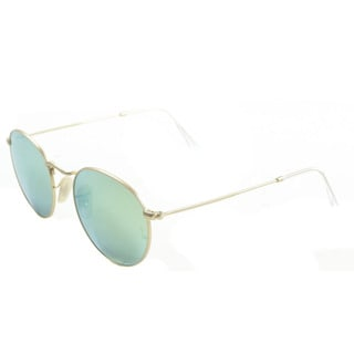 Ray-Ban Unisex 'RB3447' Round 112/P9 Matte Gold Metal Sunglasses