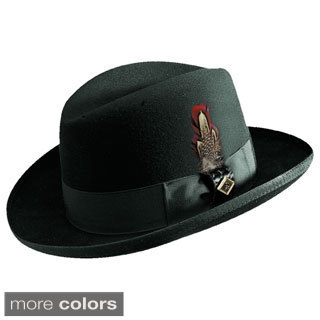 Stacy Adams Wool Felt Homburg Hat