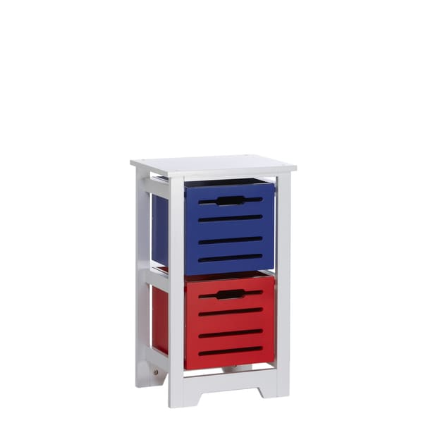 RiverRidge Kids White Cool Colors Storage Cabinet