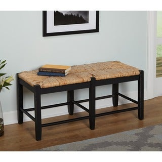 Simple Living Ashby Black Wood Bench