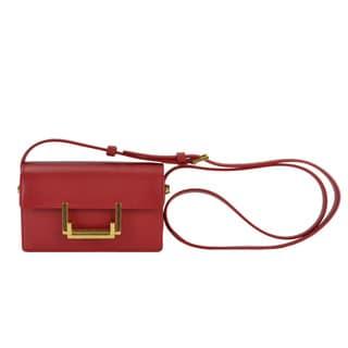 Saint Laurent Classic Red Small Lulu Crossbody Handbag