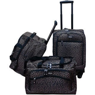 Jourdan Leopard 3-piece Carry-on Luggage Set
