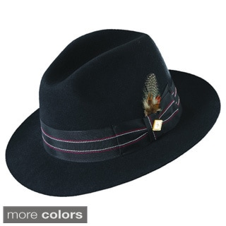 Stacy Adams Wool Felt Fedora Hat