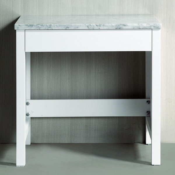 White Marble Top Makeup Table