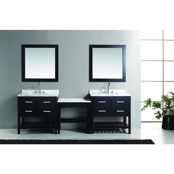London Espresso Vanity (Set of 2) and Make-up Table
