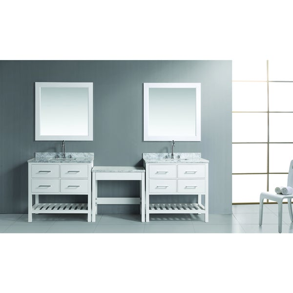 London Make-up Table and Single-sink Vanity Set