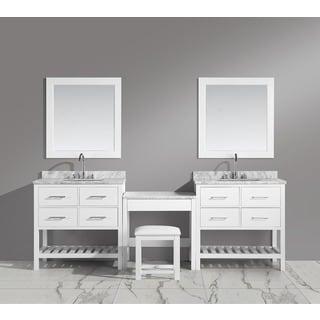 Design Element London Make-up Table and Single-sink Vanity Set