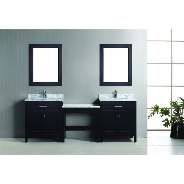 Design Element London Make Up Table And Vanity Set In Espresso Overstock Sh