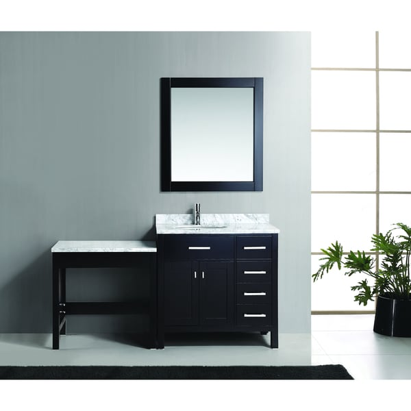 "London 36"" Single Sink Vanity Set in Espresso with One Make-up table in Espresso"
