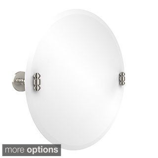 Unframed Round Tilt Wall Mirror South Beach Collection with Beveled Edge