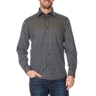 English Laundry Men's Collared Long Sleeve Button Down