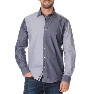 English Laundry Men's Color Block Long Sleeve Button Down.