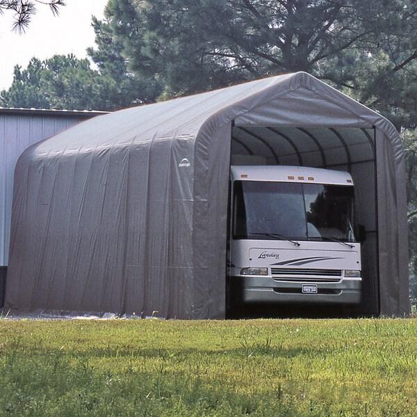 24 Feet Long Boat Shelter : Shelterlogic grey automotive boat peak style outdoor