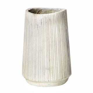 Sage & Co Decorative 13-inch Striated Cement Vessel