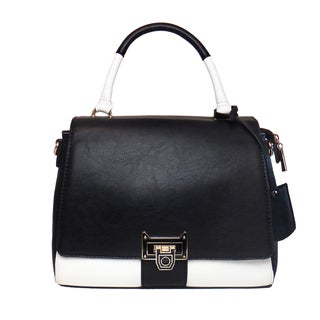 Lithyc 'Latika' Vegan Leather Colorblock Satchel