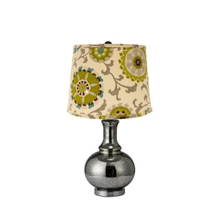 Charmante Pea and Teal Shade Table Lamp