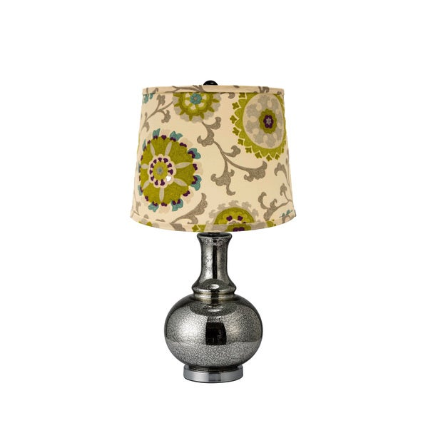 Somette Charmante Pea and Teal Shade Table Lamp